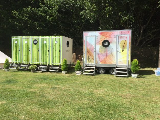 Glamping wedding toilets
