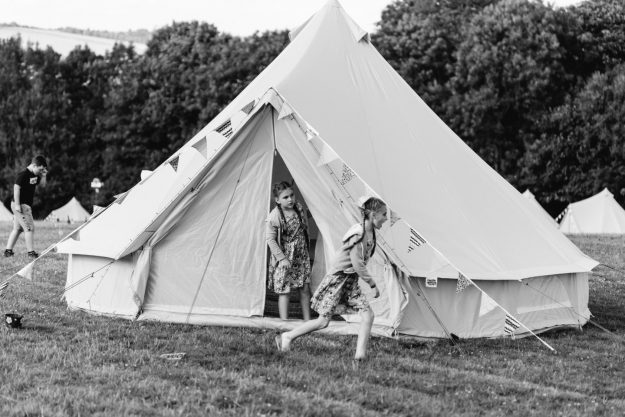 Rent a bell tent for camping and weddings in Hampshire and West Sussex