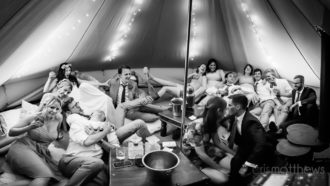 Charlotte and Dan's secret bar tent at Rumbolds Farm, West Sussex