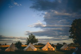 Bell tent village set up in Doset