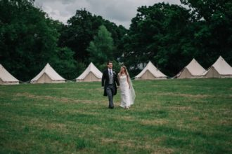 Bell tent hotel set in a field - we bring the hotel to you