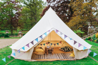5m chill out bell tent at Somerley House, near Ringwood