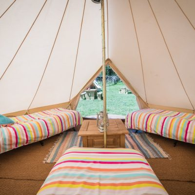 Hen party glamping tent