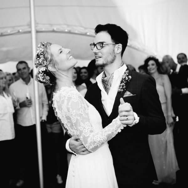 Amy and George Dancing. Wedding Inspiration. Bell tent hire, Chichester, West Sussex