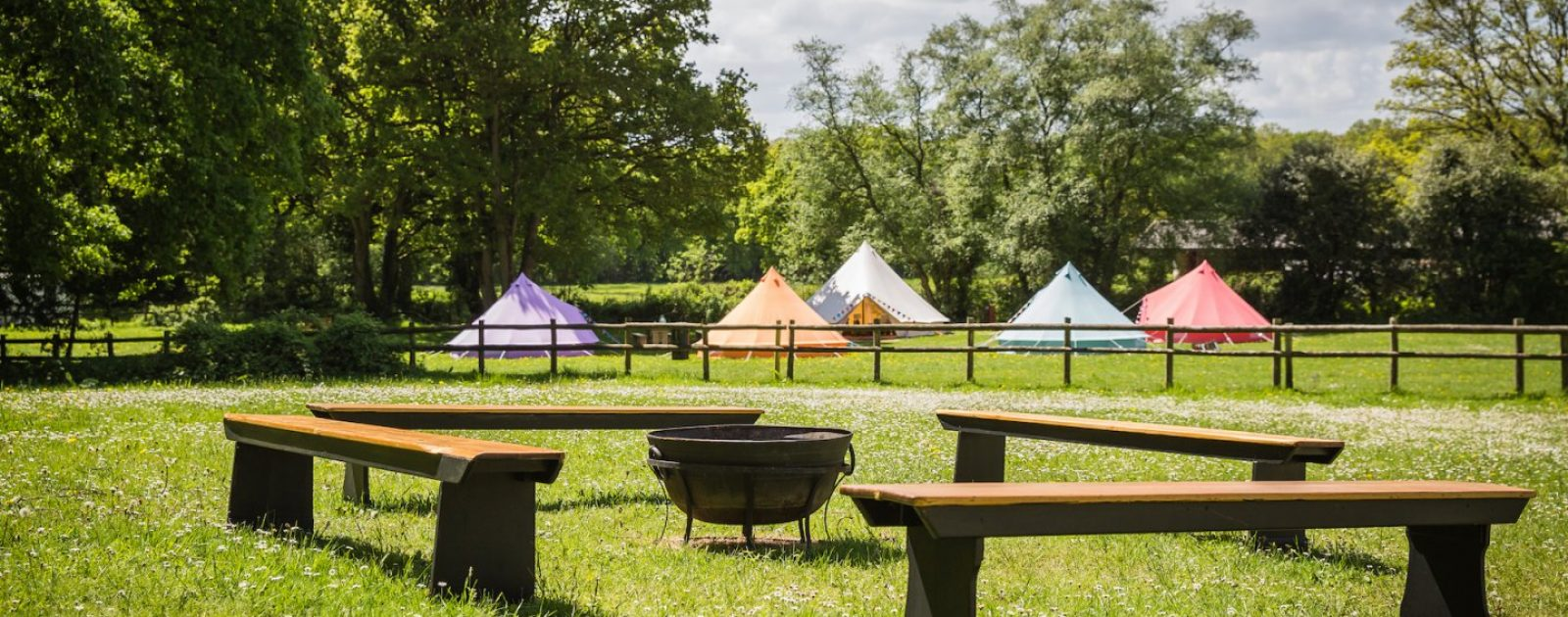 Tropic camp at our hen camp on the outskirts of the New Forest
