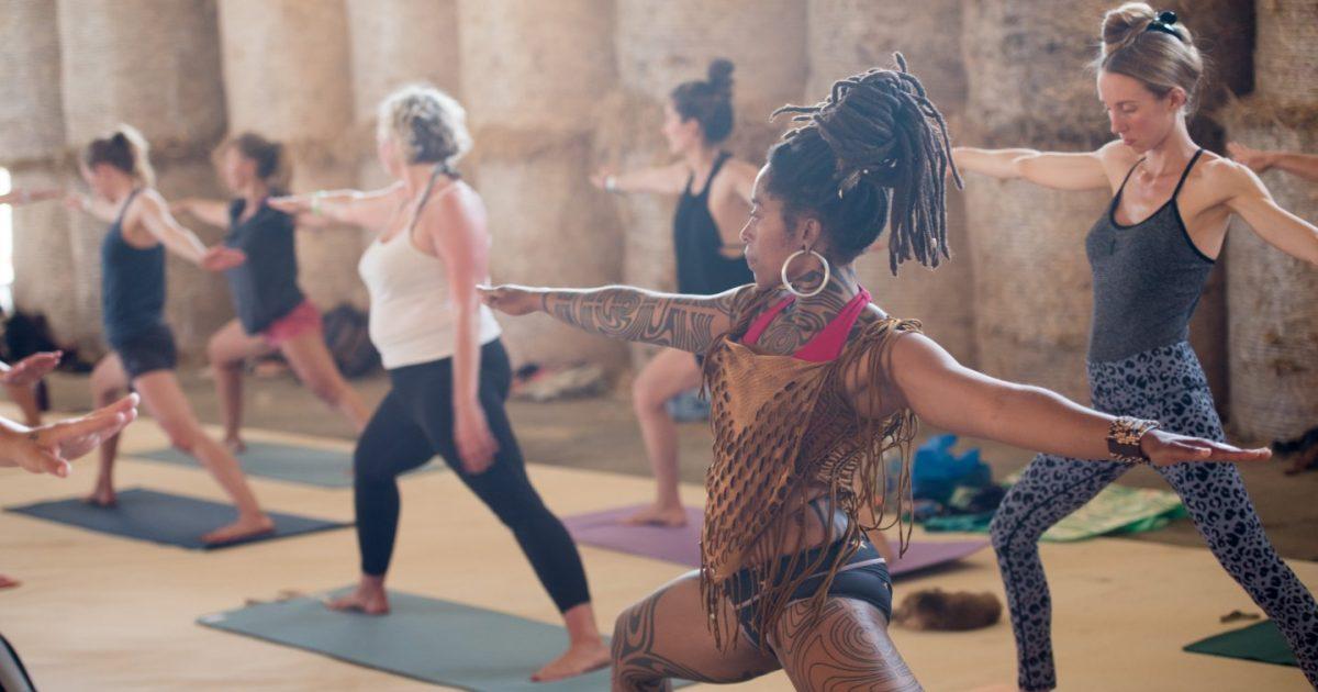Luxury gleaming for Exhale Festival. Yoga festival glamping