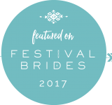 Festival Brides Badge 2017 - Beautiful Bells feature on tis blog for an outdoor wedding at Patricks Barn, West Sussex for a festival and barn wedding