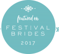 Festival Brides Badge 2017 - Beautiful Bells feature on this blog for an outdoor wedding at Patricks Barn, West Sussex for a festival and barn wedding