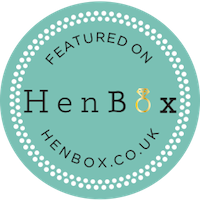 Hen box badge - Beautiful Bells are featured on hen box for their hen party gleaming camp near the New Forest