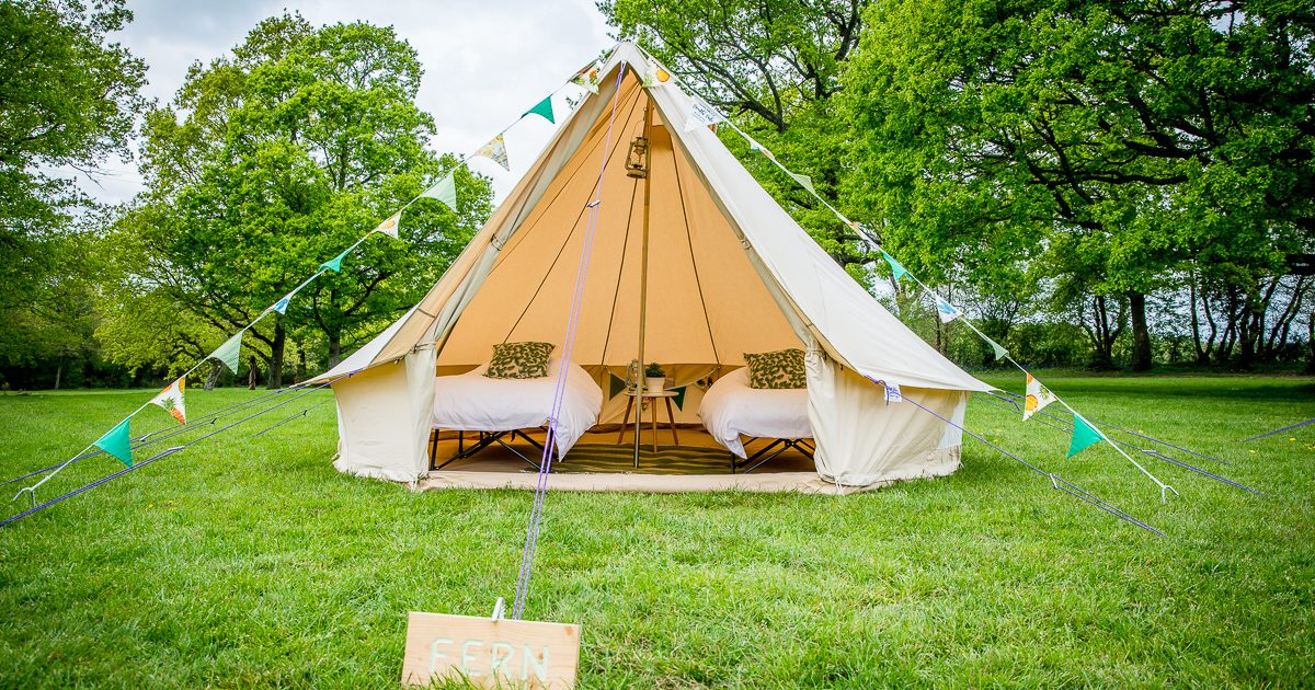 4m village gust bell tent for glamping and weddings in Surrey