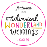 Featured on Whimsical Wonderland Weddings badge - Beautiful Bells have been featured in this national blog for an outdoor wedding