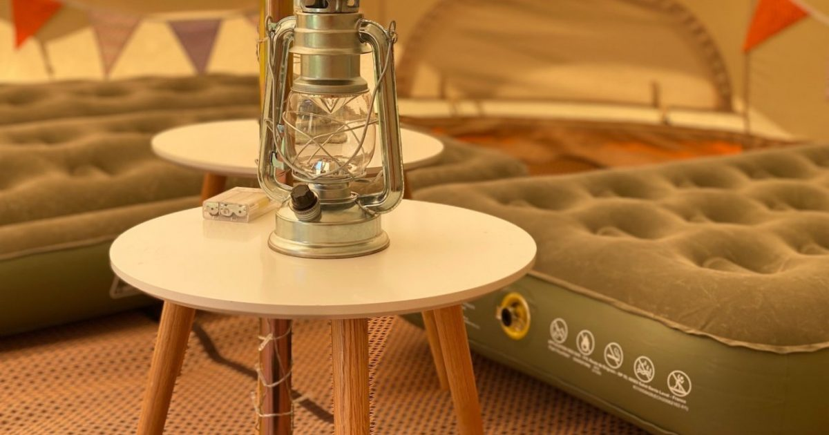 Click And Collect Glamping package for hire in Hampshire