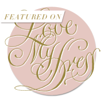 Love my dress badge - Beautiful Bells have been featured in this national blog for an outdoor wedding at Bignor Park, West Sussex.
