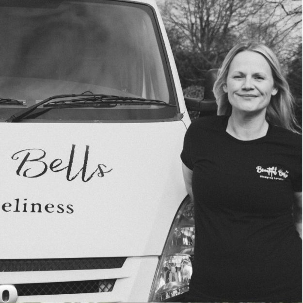 About Beautiful Bells. Meet the team at Beautiful Bells who deliver and set up bell tents for your wedding or event in Surrey - Katrina