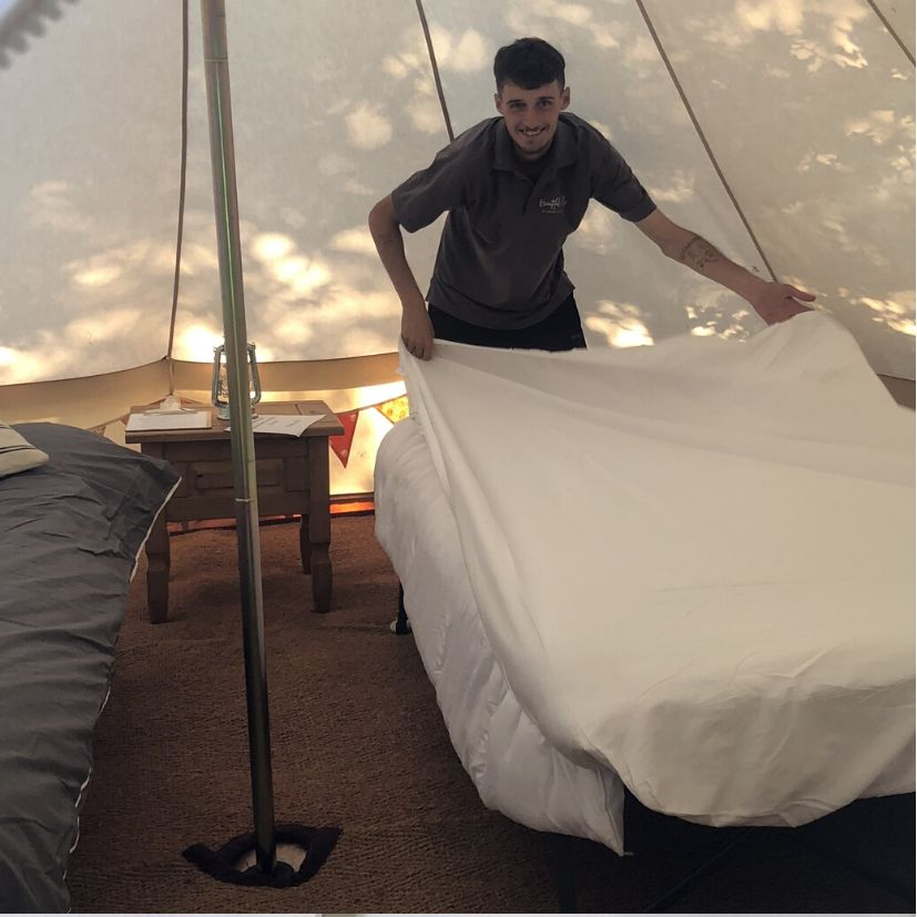 Meet the team at Beautiful Bells who deliver and set up bell tents for your wedding or event in West Sussex - Oscar